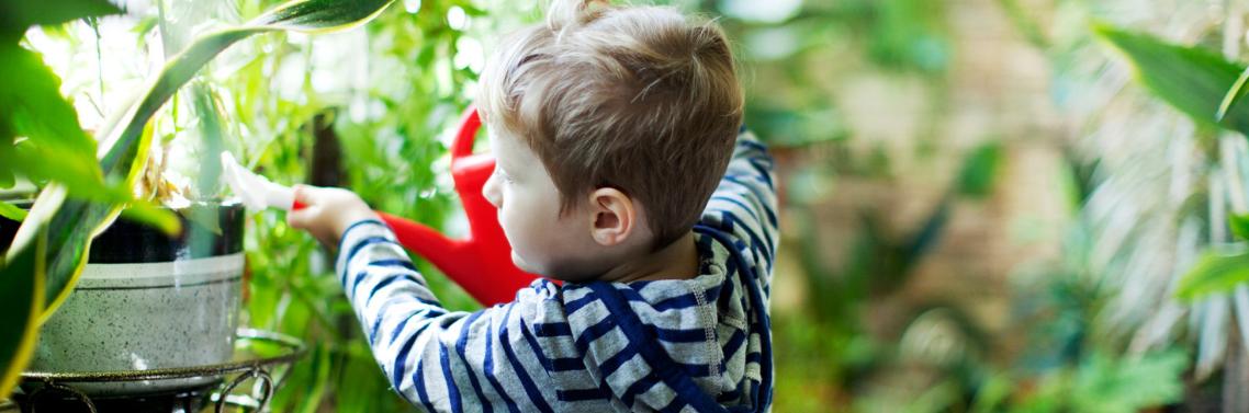 Jardiner avec les enfants - Nounou Asssure